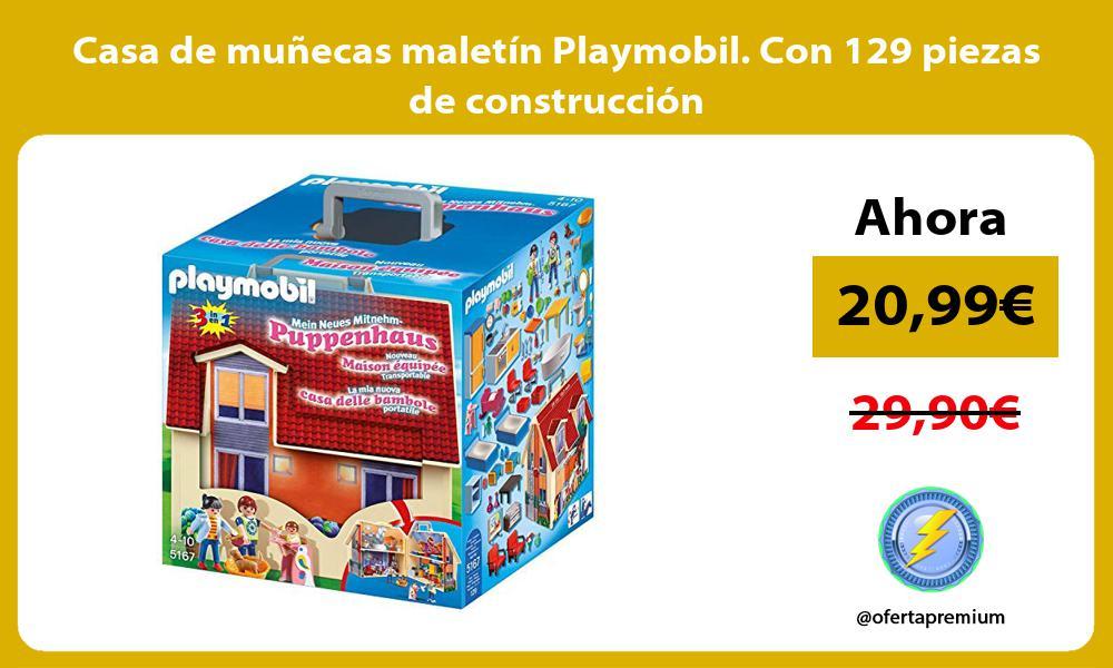 Casa de muñecas maletín Playmobil Con 129 piezas de construcción