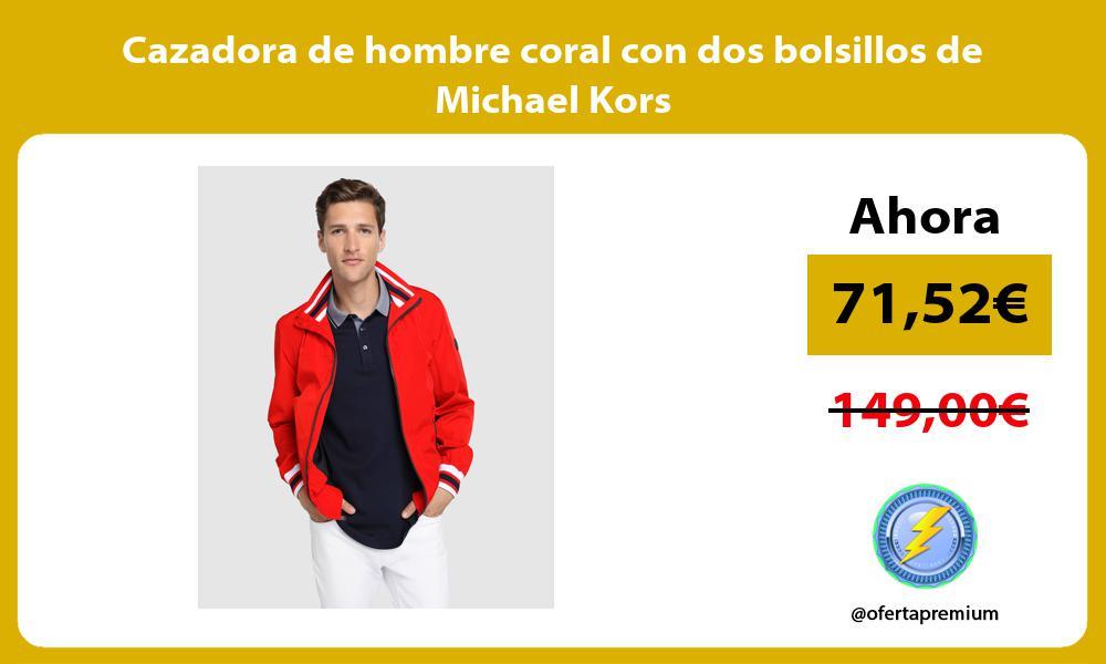 Cazadora de hombre coral con dos bolsillos de Michael Kors