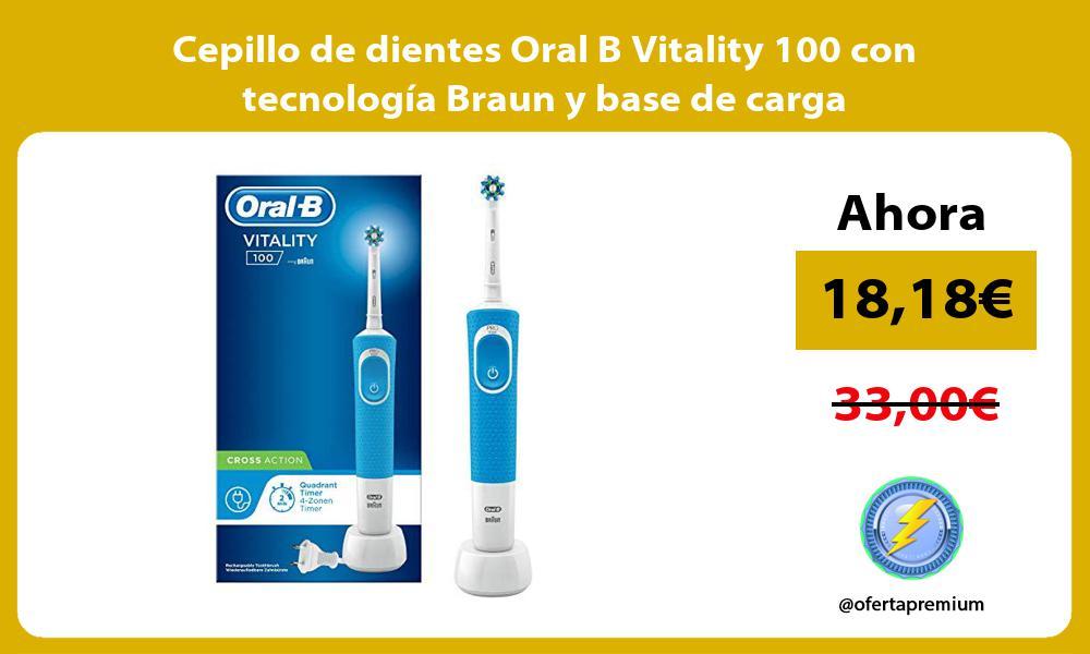 Cepillo de dientes Oral B Vitality 100 con tecnología Braun y base de carga