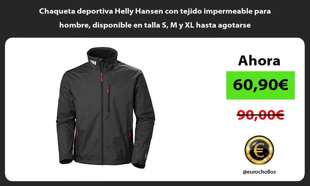 Chaqueta deportiva Helly Hansen con tejido impermeable para hombre disponible en talla S M y XL hasta agotarse