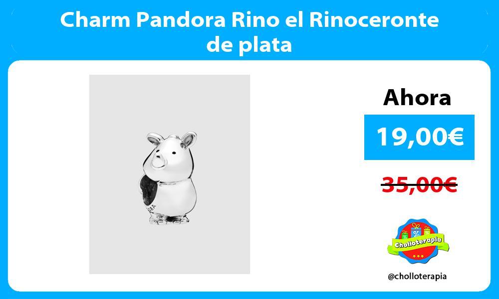 Charm Pandora Rino el Rinoceronte de plata
