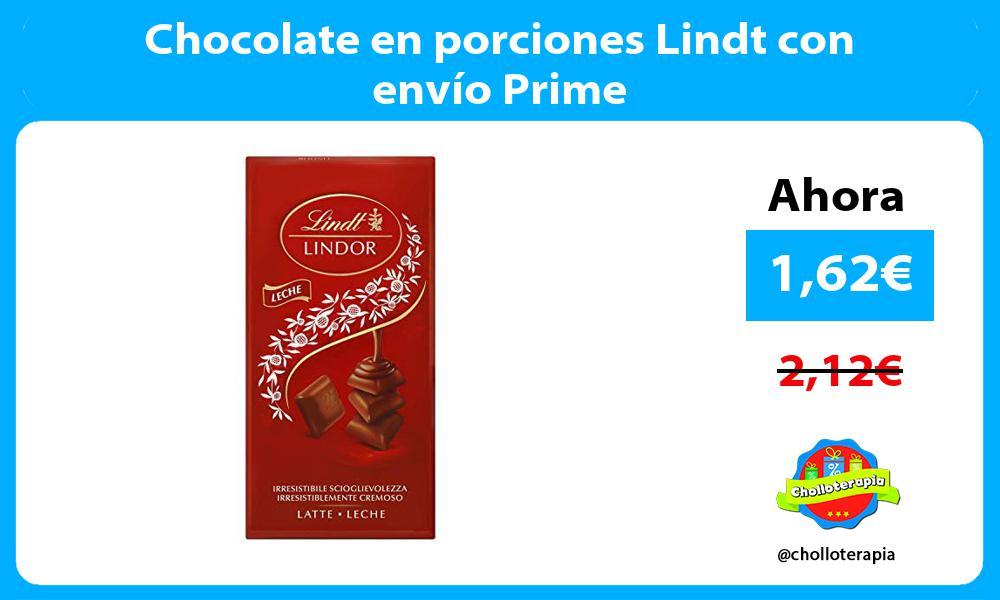 Chocolate en porciones Lindt con envío Prime