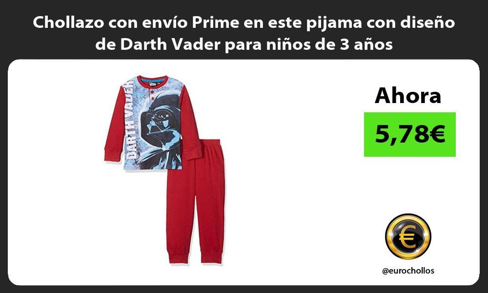 Chollazo con envío Prime en este pijama con diseño de Darth Vader para niños de 3 años