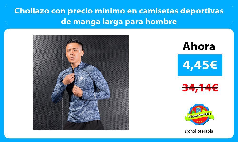 Chollazo con precio mínimo en camisetas deportivas de manga larga para hombre