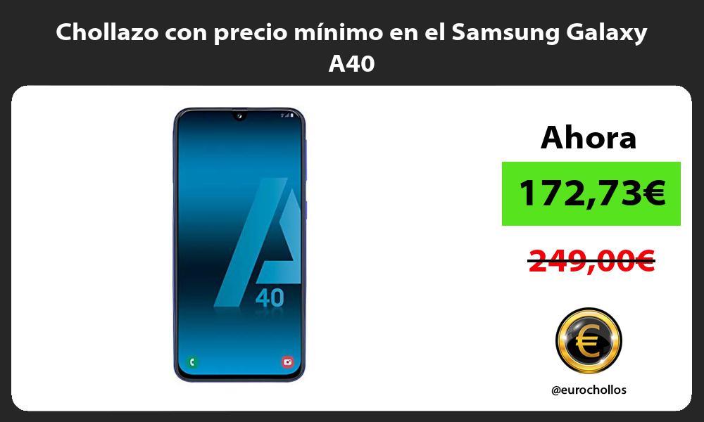 Chollazo con precio mínimo en el Samsung Galaxy A40