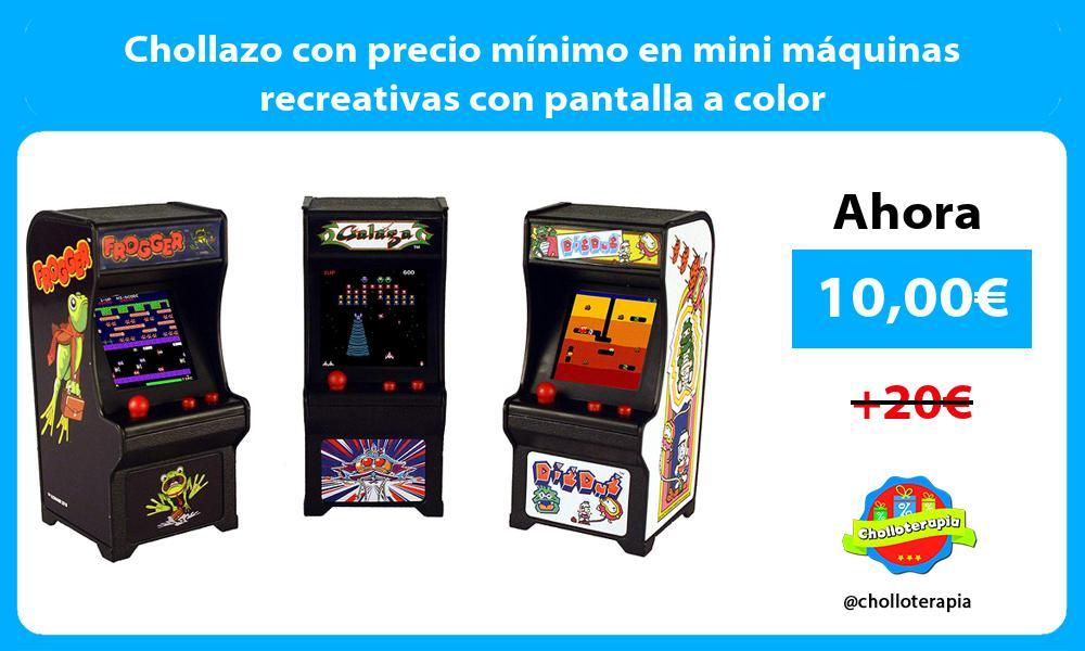 Chollazo con precio mínimo en mini máquinas recreativas con pantalla a color