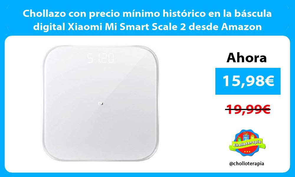 Chollazo con precio mínimo histórico en la báscula digital Xiaomi Mi Smart Scale 2 desde Amazon