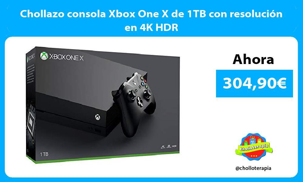 Chollazo consola Xbox One X de 1TB con resolución en 4K HDR