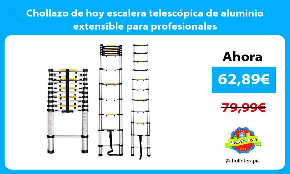 Chollazo de hoy escalera telescópica de aluminio extensible para profesionales