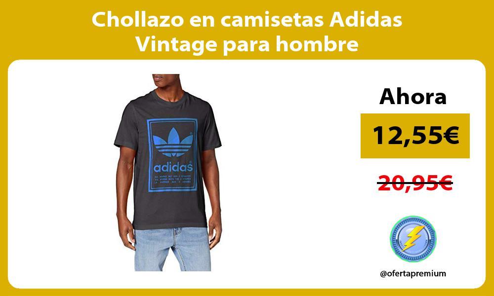 Chollazo en camisetas Adidas Vintage para hombre