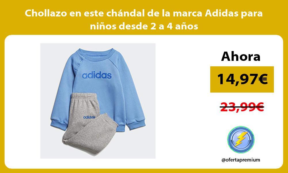 Chollazo en este chándal de la marca Adidas para niños desde 2 a 4 años