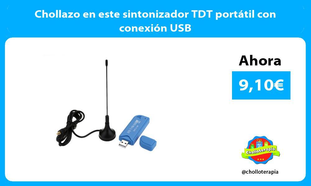 Chollazo en este sintonizador TDT portátil con conexión USB