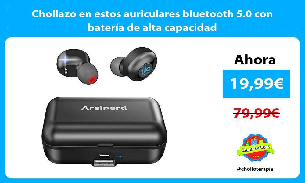 Chollazo en estos auriculares bluetooth 5 0 con batería de alta capacidad
