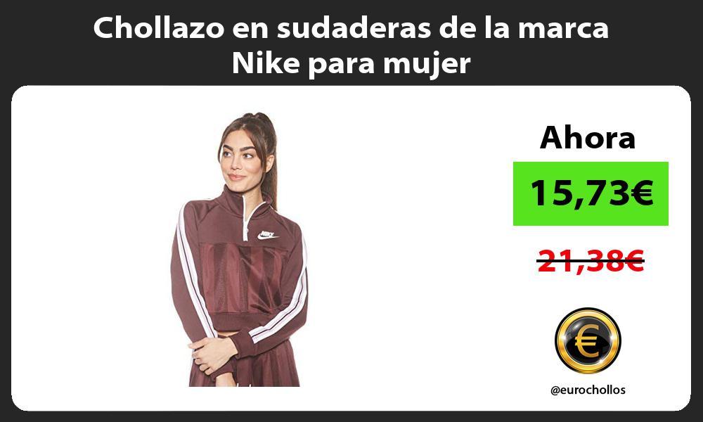 Chollazo en sudaderas de la marca Nike para mujer