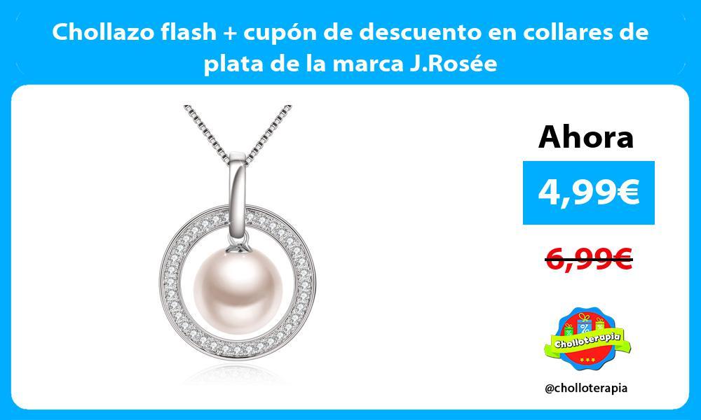 Chollazo flash cupón de descuento en collares de plata de la marca J Rosée
