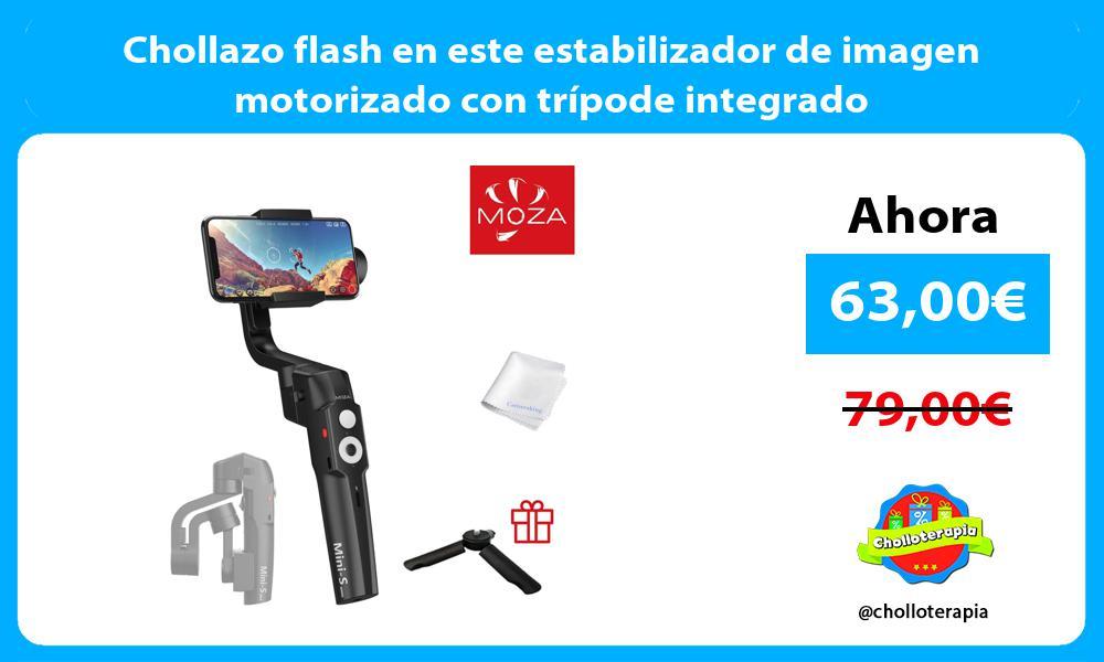 Chollazo flash en este estabilizador de imagen motorizado con trípode integrado