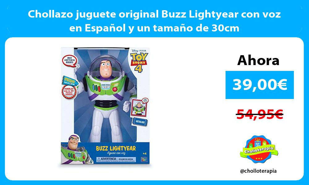 Chollazo juguete original Buzz Lightyear con voz en Español y un tamaño de 30cm