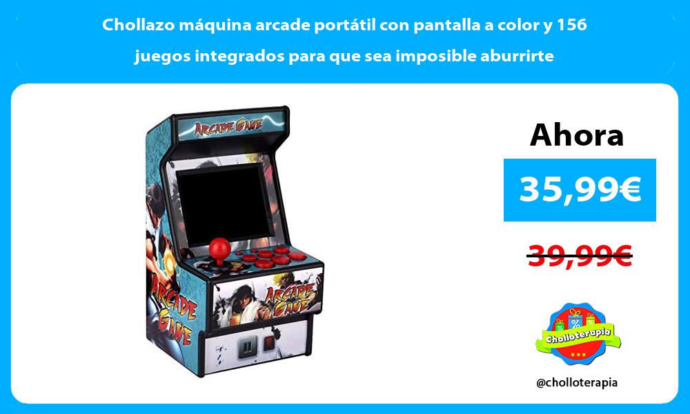 Chollazo máquina arcade portátil con pantalla a color y 156 juegos integrados para que sea imposible aburrirte
