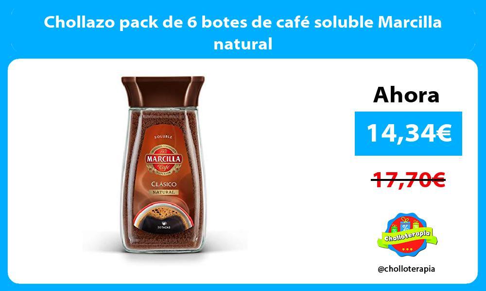 Chollazo pack de 6 botes de café soluble Marcilla natural
