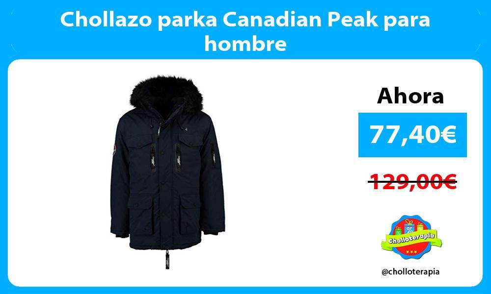 Chollazo parka Canadian Peak para hombre