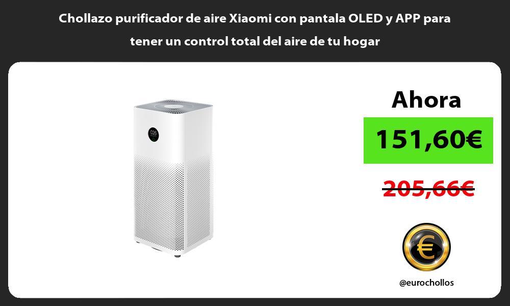 Chollazo purificador de aire Xiaomi con pantala OLED y APP para tener un control total del aire de tu hogar