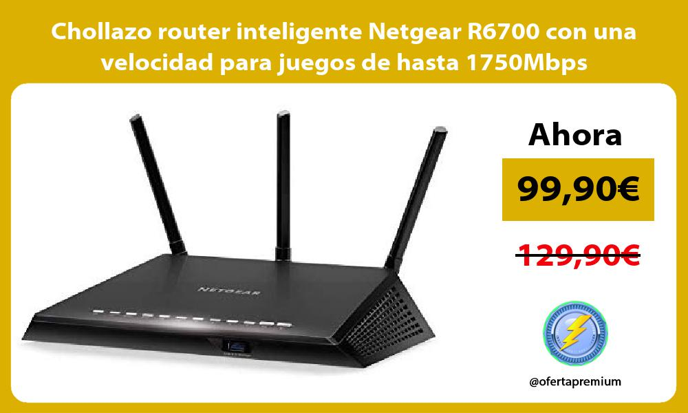 Chollazo router inteligente Netgear R6700 con una velocidad para juegos de hasta 1750Mbps