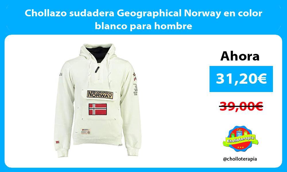 Chollazo sudadera Geographical Norway en color blanco para hombre