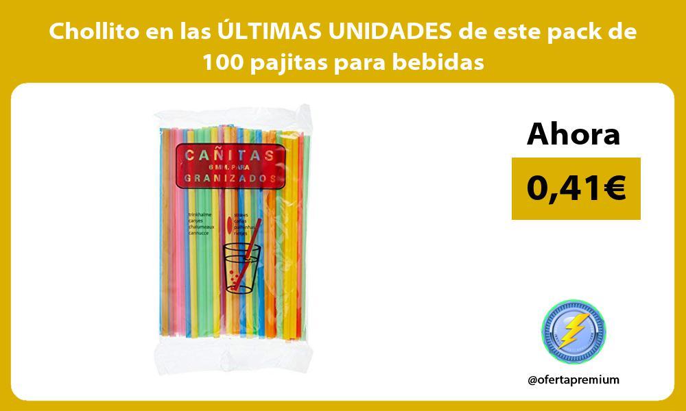 Chollito en las ÚLTIMAS UNIDADES de este pack de 100 pajitas para bebidas