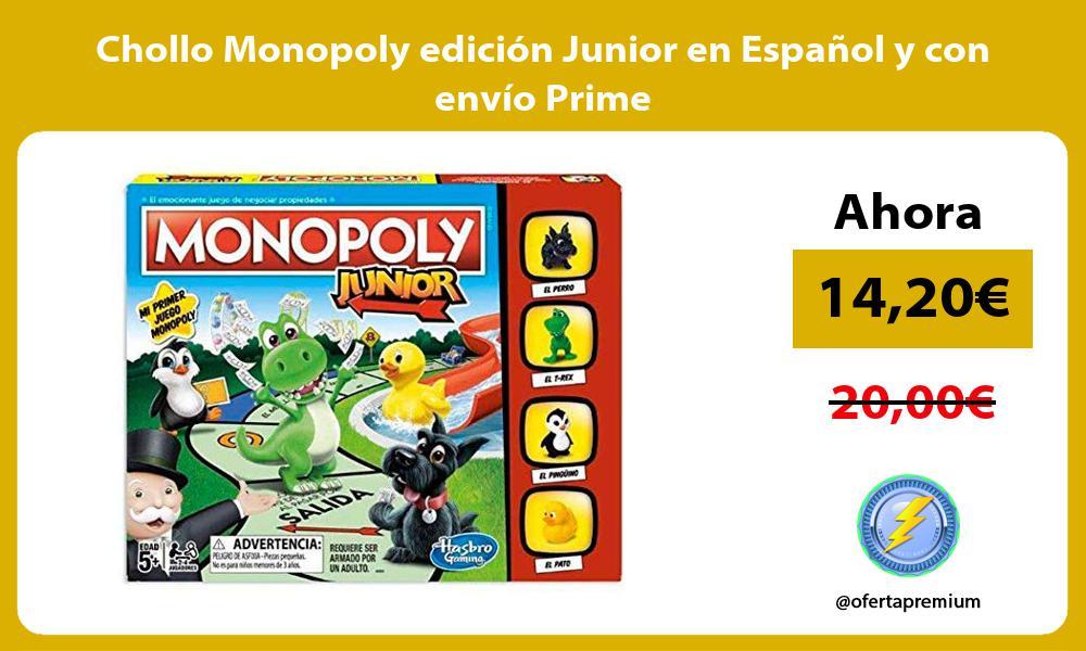 Chollo Monopoly edición Junior en Español y con envío Prime