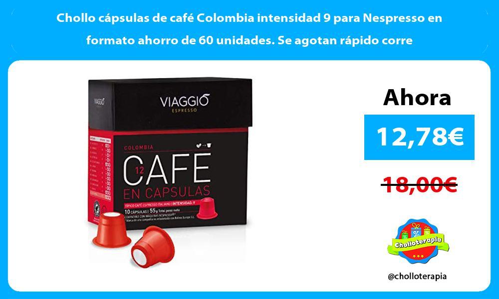 Chollo cápsulas de café Colombia intensidad 9 para Nespresso en formato ahorro de 60 unidades Se agotan rápido corre