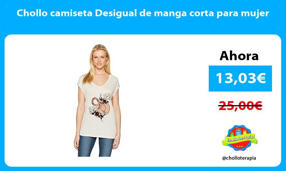 Chollo camiseta Desigual de manga corta para mujer