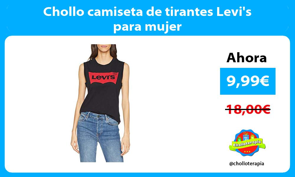 Chollo camiseta de tirantes Levis para mujer