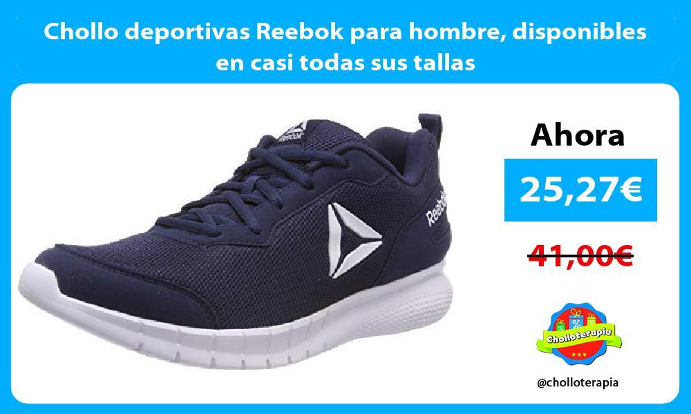 Chollo deportivas Reebok para hombre disponibles en casi todas sus tallas