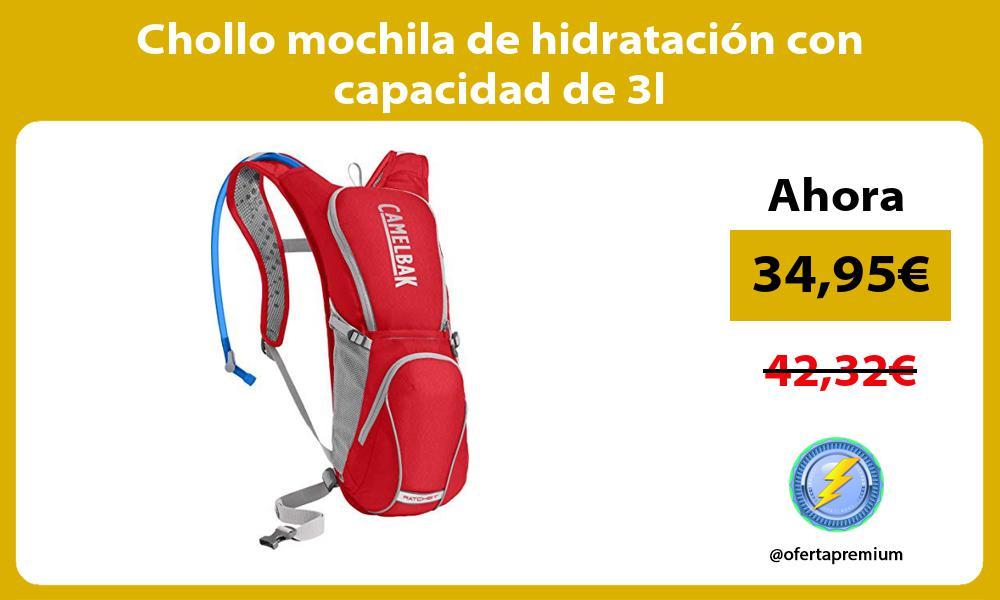 Chollo mochila de hidratación con capacidad de 3l