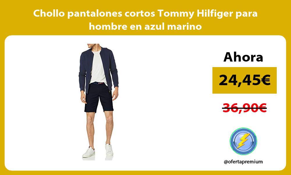 Chollo pantalones cortos Tommy Hilfiger para hombre en azul marino