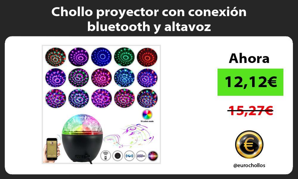 Chollo proyector con conexión bluetooth y altavoz