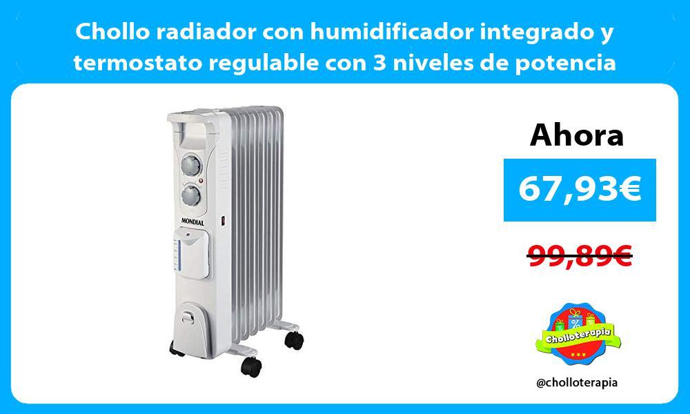 Chollo radiador con humidificador integrado y termostato regulable con 3 niveles de potencia