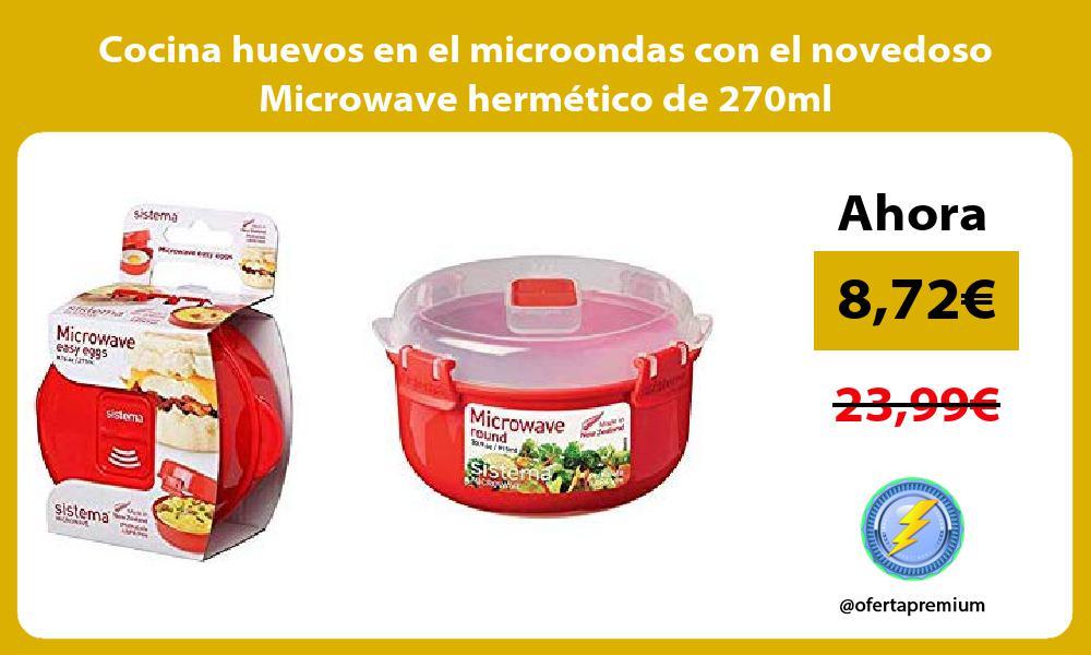 Cocina huevos en el microondas con el novedoso Microwave hermético de 270ml