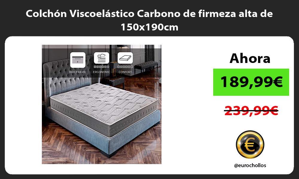Colchón Viscoelástico Carbono de firmeza alta de 150x190cm