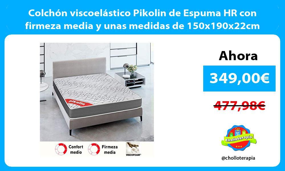 Colchón viscoelástico Pikolin de Espuma HR con firmeza media y unas medidas de 150x190x22cm