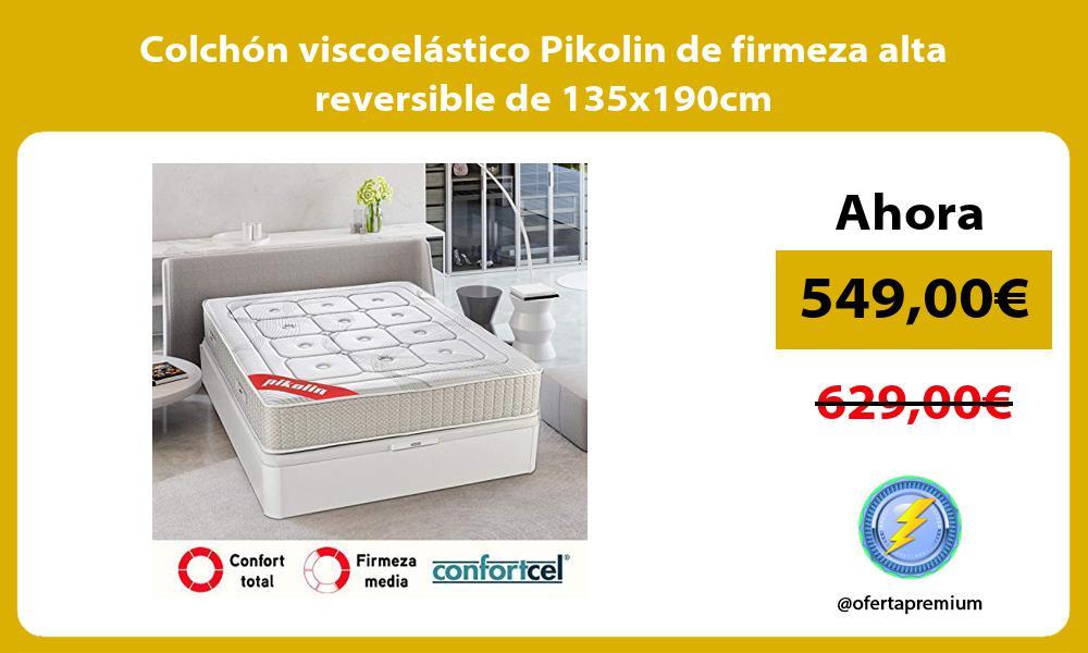 Colchón viscoelástico Pikolin de firmeza alta reversible de 135x190cm