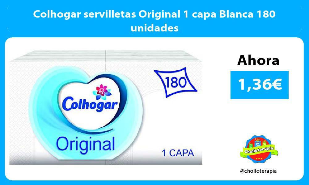 Colhogar servilletas Original 1 capa Blanca 180 unidades
