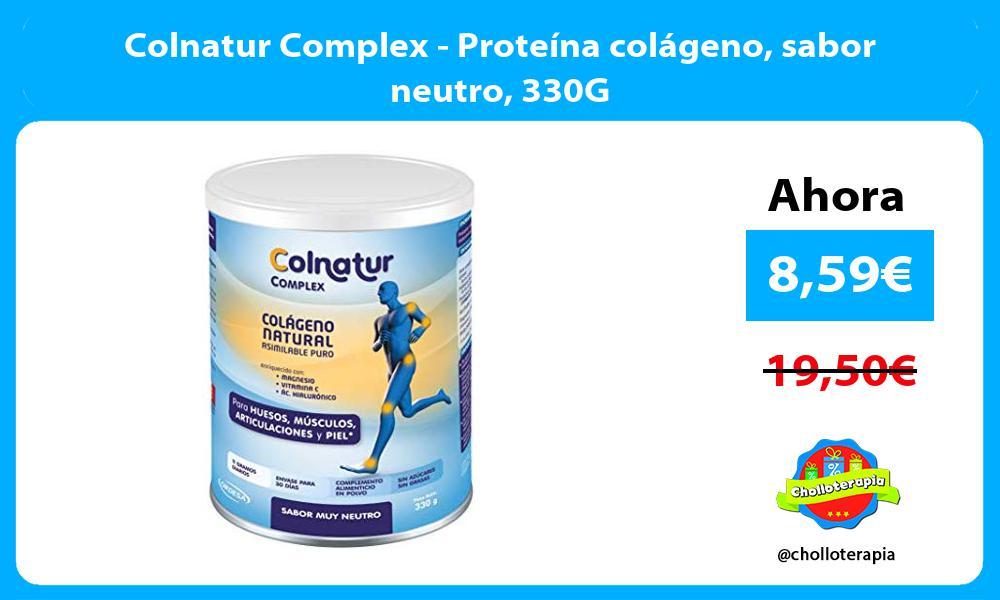 Colnatur Complex Proteína colágeno sabor neutro 330G