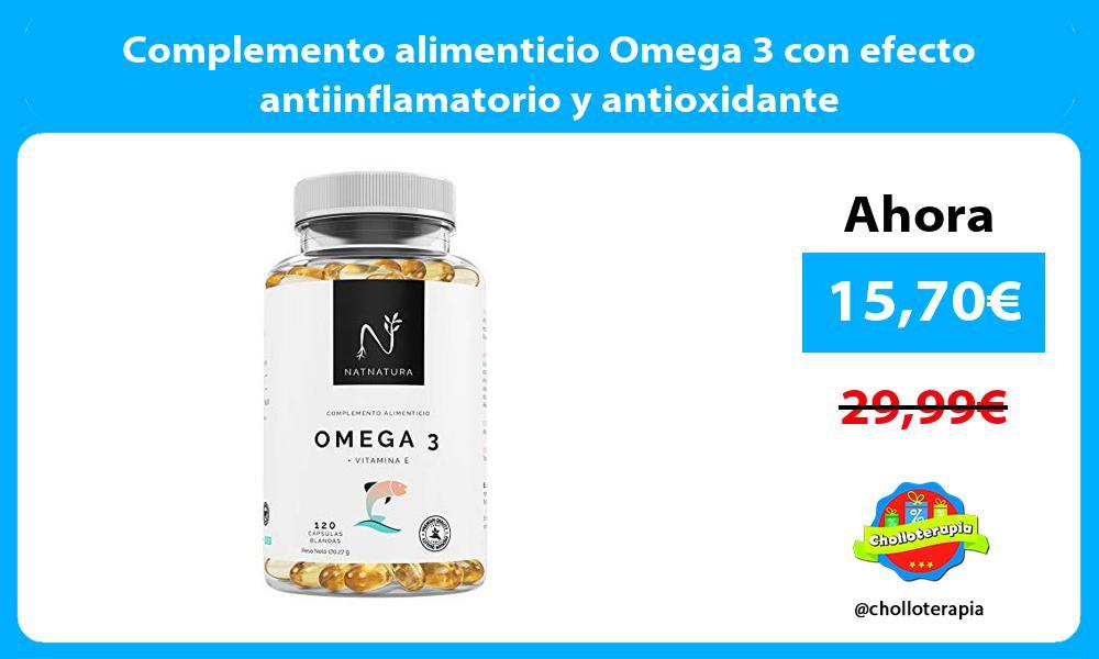 Complemento alimenticio Omega 3 con efecto antiinflamatorio y antioxidante
