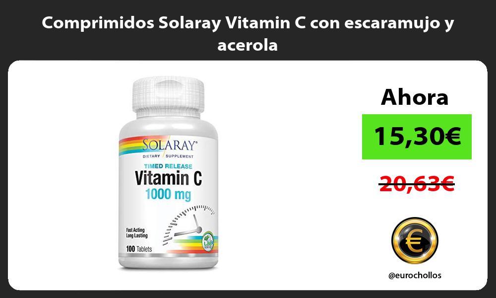 Comprimidos Solaray Vitamin C con escaramujo y acerola