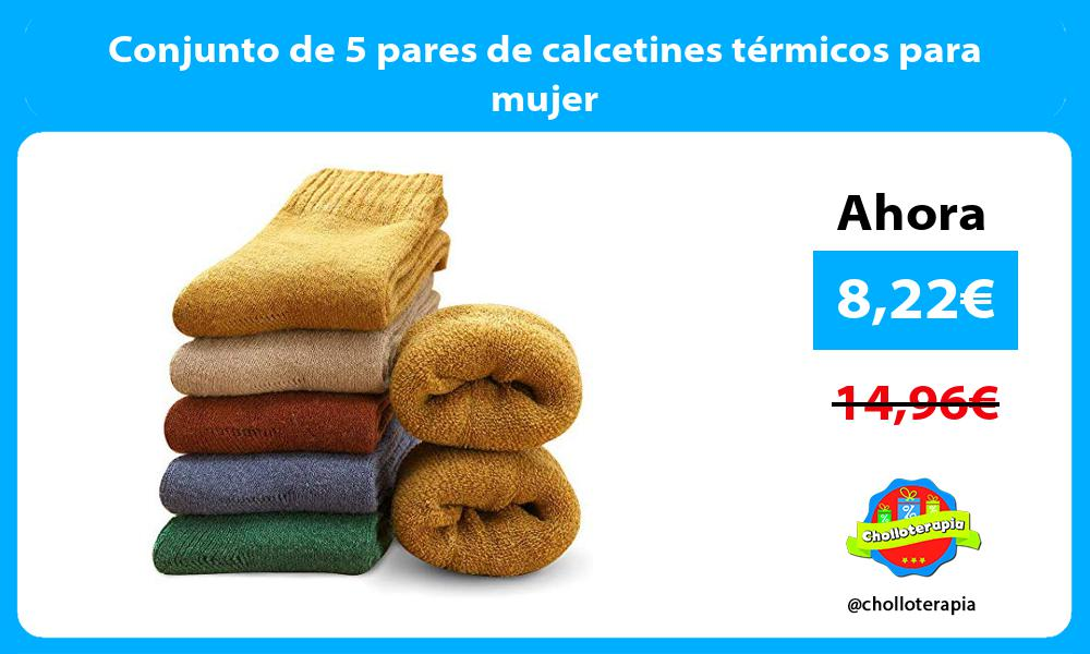 Conjunto de 5 pares de calcetines térmicos para mujer
