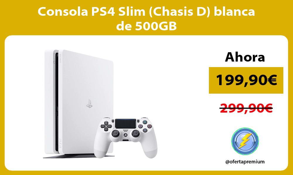 Consola PS4 Slim Chasis D blanca de 500GB