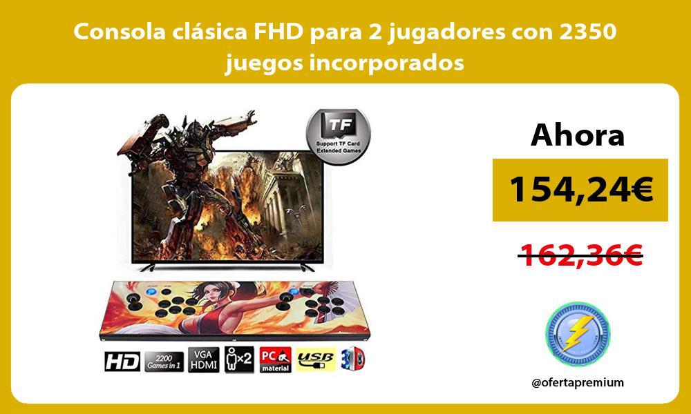 Consola clásica FHD para 2 jugadores con 2350 juegos incorporados