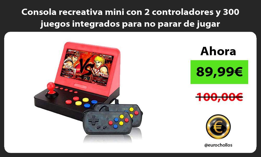 Consola recreativa mini con 2 controladores y 300 juegos integrados para no parar de jugar