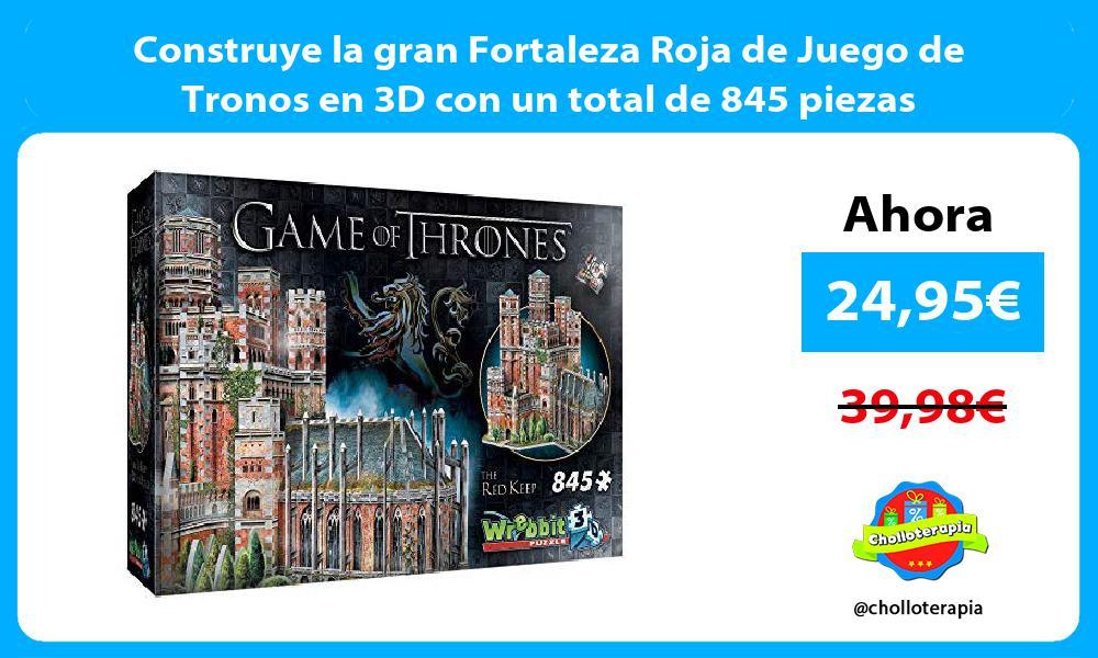 Construye la gran Fortaleza Roja de Juego de Tronos en 3D con un total de 845 piezas